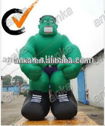 giant inflatable monster (green,entertainment,advertising)
