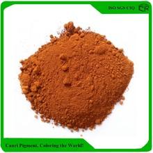 Iron oxide orange paint acid stain concrete pigment color