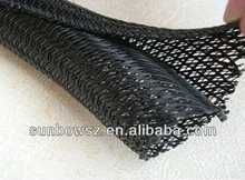 PET expandable braided mesh sleeving for electric wires bounding and protecting