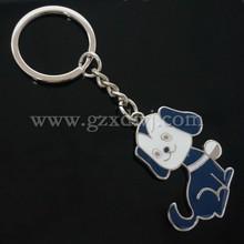Dog shape key chain Custom Print Paint Colorful Enamel Pets Dogs Keyring Key Chain dog shaped metal keychain