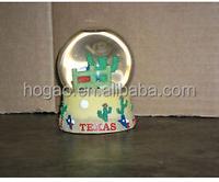 custom Dallas Texas city snow globe