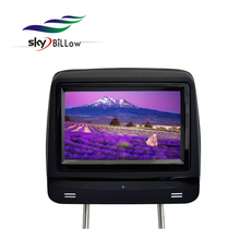High quality 7 inch digital screen car headrest dvd for puris with wireless game and remote control