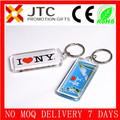 JTC PROMOTIONALnew york keychain wholesaleclear acrylic PHOTO keychain wholesale 6*2.5*0.5cm delivery 7days/5%off,CE&FDA,rohs