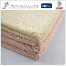 Jiufan Textile 2015 Hot Selling Plain Dyed Knit Slub Poly Span Hacci Fabric For Sportswear