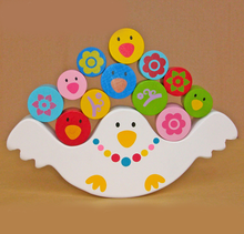 wood bird blance toy, blance education toy for children