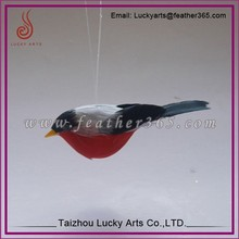 Lucky Arts fashion Red artificial feather bird for gifts