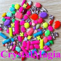 flat back sew on claw rhinestone neon fluorescence color stones wholesale