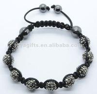 Wholesale 2014 10MM crystal bracelet shamballa watch designer macrame shamballa bracelet with Polymer clay Crystal balls