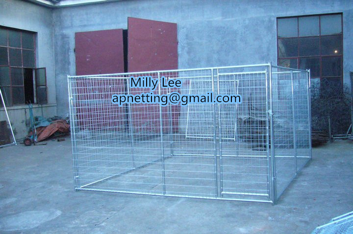 dog run 10' x 10' x 6' /chain link animal cage/dog kennels/dog runs kennel