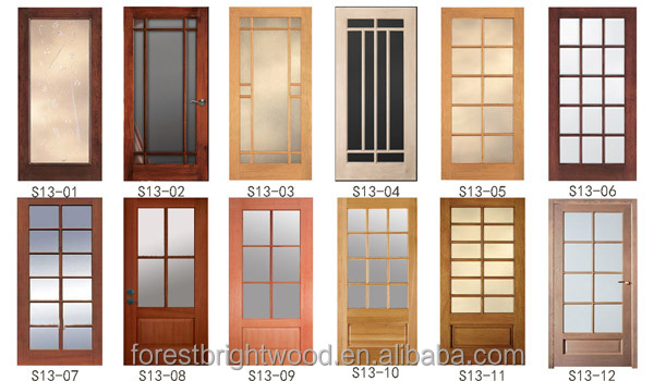 S13 12600 1. Accessories. Knotty Pine With Frosted Glass Double French Wood  Door ...