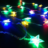 LED string lights flashing Christmas lights the stars glow lamp with bulb lamp pendant lamp outdoor waterproof Polaris