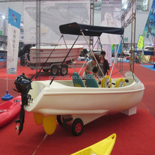 Good quality PVC plastic paddle boat/water bike pedal boats for sale(M-031)