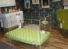 HOT!!!handmade security plexiglass baby crib with sofa bed