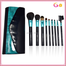 You best choice 9pcs Makeup Brush Set with reflecting leather evening party Case
