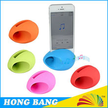 HBJ028 Mobile phone accessories rubber silicone egg speaker for iphone