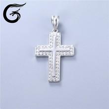 925- plata- rodio- plateado- joyería de la libélula colgante de plata de ley occidental cruz colgante