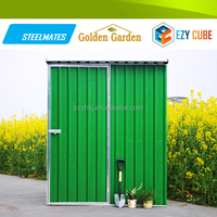Durable CE Certification galvanized metal garden shed with swing door made in China