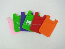 Smart phone card silicone holder/wallet/pocket, popular phone gifts card holder