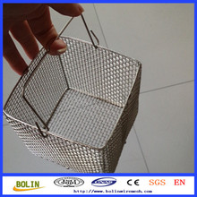 Stainless Steel Mesh Dipping Basket / Deep Fry Wire Baskets / Metal Frying Basket For Chips (free sample)