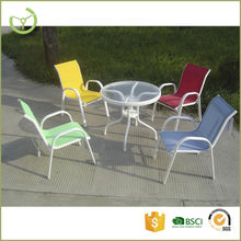 Outdoor kids furniture/dining set with glass table top