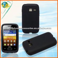 Black Rubber Skin For Samsung S6102 Galaxy Y Duos Soft Gel Silicone Cover Case