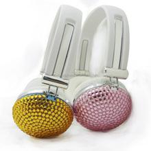 jewelry headphones noise cancelling headphone fashionable crystal headphone