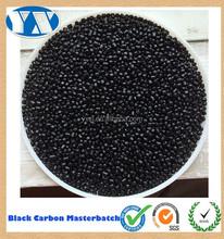 Pe / PP / PS / ABS / PVC / PC / PA / PBT / PU / EVA de carbono plástico Masterbatch preto