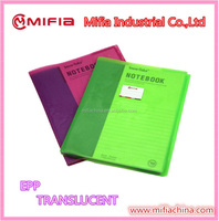 Translucent Plastic EPP material A4/A5/A6 size soft school book covers for sale