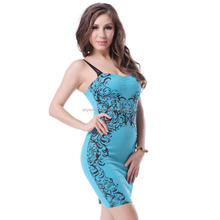 Wholesale fashion sex bandage girl party wear western dress