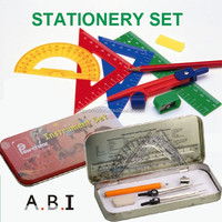 back to school stationery 13 pcs Mathematical Set math set instruments compass set