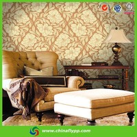2015 Shanghai FLY widely used 280gsm Flax Pattern Wallpaper