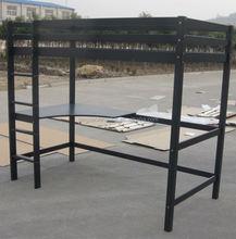 modern solid wood student bunk bed with desk KS-LB07