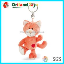 2015 new arrival! High quality for plush fox keychain