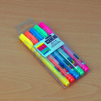 EX-factory price high quality china supplier fluorescent promotional ball pen with highlighter
