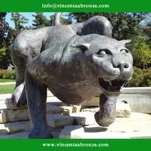 2015 new produced home decor metal panther sculpture