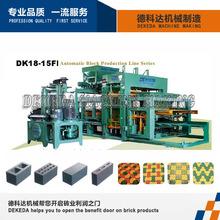 DK18-15F de alto rendimiento de la máquina de ladrillo hueco hidráulico