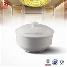cheap porcelain unique tureen with lid for restaurant and hotel