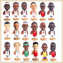 Factory Price Polyresin Crafts NBA Player Funny Bobble Heads for sale