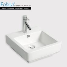 White ceramic square countertop basin for bathroom K878
