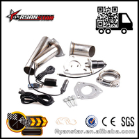 """Ryanstar Exhaust Pipe Wholesale 2"""" 2.25"""" 2.5"""" 3"""" Exhaust System With Remote Control Stainless Electric Exhaust CutOut"""