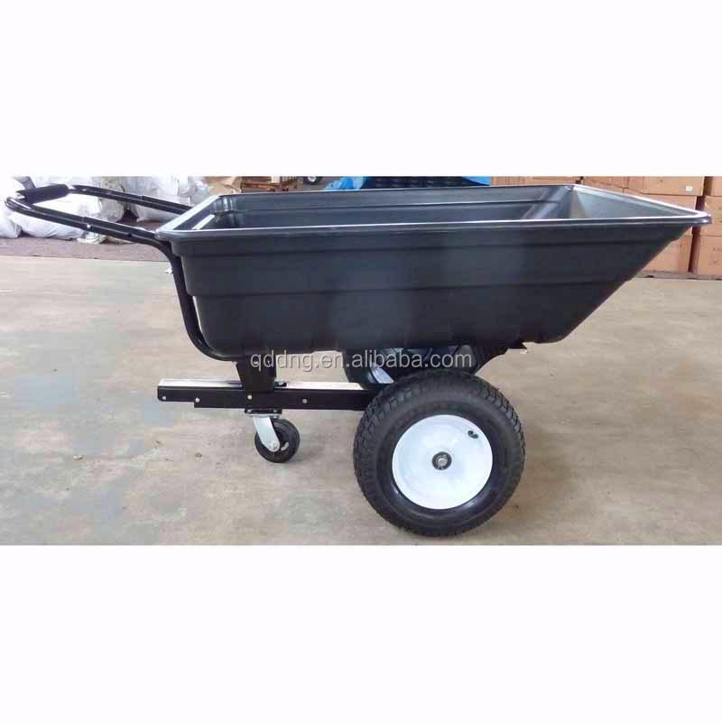 Trois roues jardin tracteur panier heavy duty remorque for Brouette 4 roues pour jardin