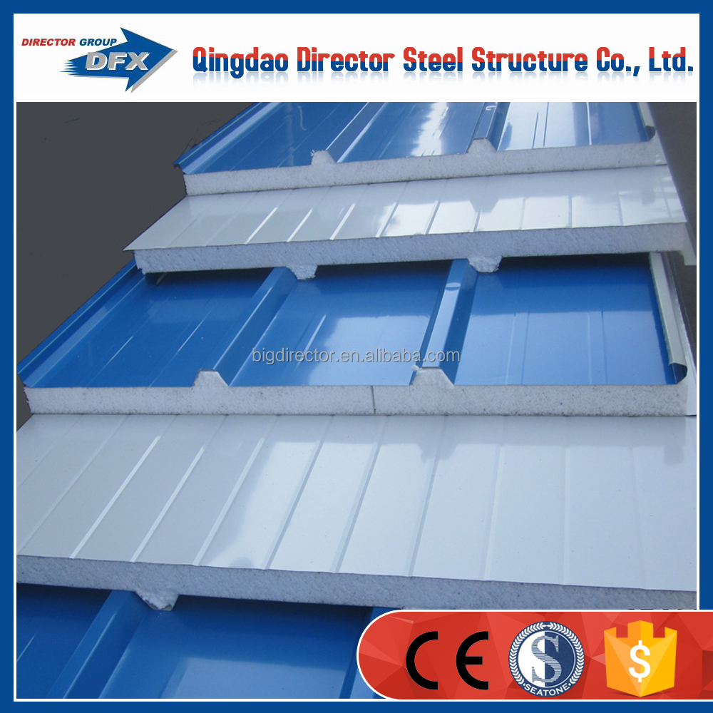 Steel Structure Prefabricated Roof Wall Sandwich Panel