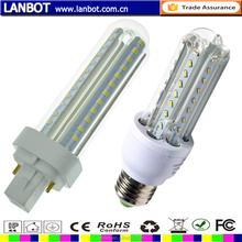 High quality power 9W G24 LED U Shape Light wth CE RoHS certificate