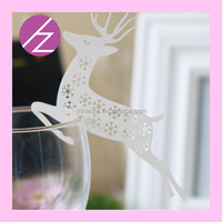JK01 ship place card for wine glasses with free logo