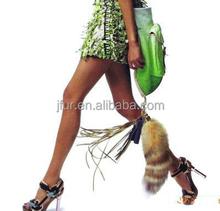 Morden Fashion Fox Tail Or Raccoon Tail Fur Accessory Keyring/Bag Pendant/Key Chain