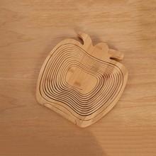 2015 newest bamboo products wholesale,apple shaped adjustable&folding bamboo fruit basket