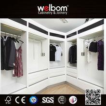 Top End Adults Modern White Wardrobe Set Gloss