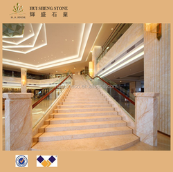 Golden spider marble stair types of marble with pircutres