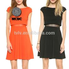 Verano de colores para mujer patrones de ropa informal para el vestido corto
