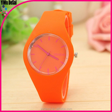 fashion Silicone jelly watch cheap watch /rubber wrist watch